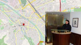 Stadtkarte Bamberg mit Kennzeichnung Lage Hotel Graupner und Rezeption