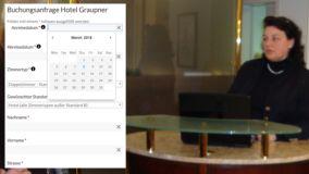 Hotel Rezeption und Online Buchungsmaske